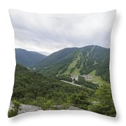 Franconia Notch State Park - White Mountains New Hampshire Usa Throw Pillow