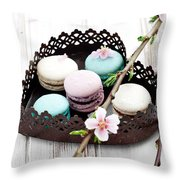 French Macaroons Throw Pillow