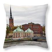 Gamla Stan. Stockholm 2014 Throw Pillow
