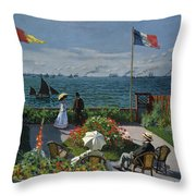 Garden At Sainte-adresse Throw Pillow