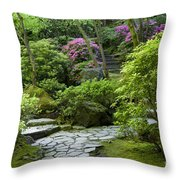 Garden Path Throw Pillow by Brian Jannsen