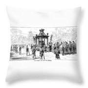Garfield Funeral, 1881 Throw Pillow