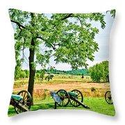 Gettysburg Battleground Throw Pillow