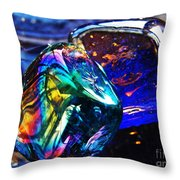 Glass Abstract 682 Throw Pillow