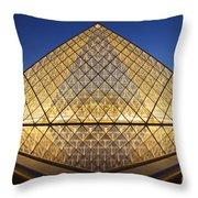 Glass Pyramid Throw Pillow