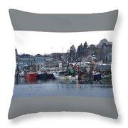 Gloucester Fishing Boats Throw Pillow