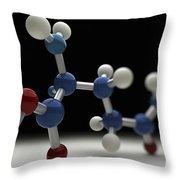 Glutamine Molecule Throw Pillow