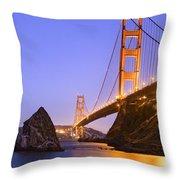 Golden Gate Bridge Throw Pillow by Emmanuel Panagiotakis