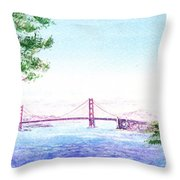 Golden Gate Bridge San Francisco Throw Pillow by Irina Sztukowski