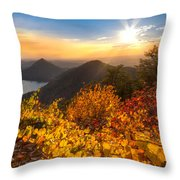 Golden Hour Throw Pillow by Debra and Dave Vanderlaan