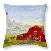Grandpa's Farm Throw Pillow