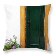 Greek Door Throw Pillow