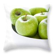 Green Granny Smith Apples Throw Pillow