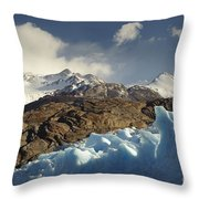 Grey Glacier In Chilean National Park Throw Pillow