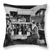 Hampton Institute, 1899 Throw Pillow