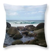 Hanakapi Ai Beach Throw Pillow