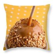 Hand Dipped Caramel Apples Throw Pillow