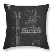Hart Gibson Electrical Musical Instrument Patent Drawing From 19 Throw Pillow