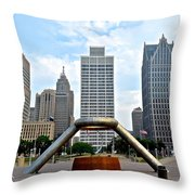 Hart Plaza Detroit Throw Pillow