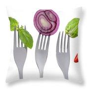 Healthy Food On White Throw Pillow