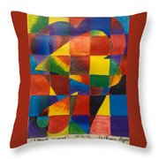 3 Hearts Squared Throw Pillow