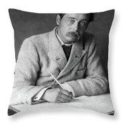 Herbert George Wells (1866-1946) Throw Pillow