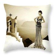 High Fashion Santorini Throw Pillow