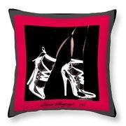 High Heels Throw Pillow