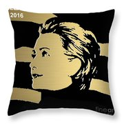 Hillary Clinton Gold Series Throw Pillow