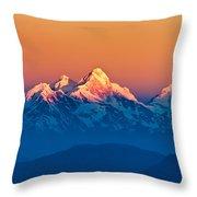 Himalayan Mountains View From Mt. Shivapuri Throw Pillow