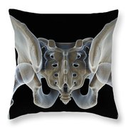 Hip Bones Male Throw Pillow