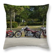 Hogs And Choppers Throw Pillow