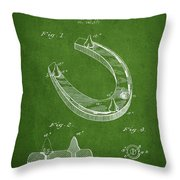 Horseshoe Patent Drawing From 1881 Throw Pillow