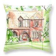 House Rendering Sample Throw Pillow