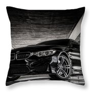 I Take Mine Black Throw Pillow