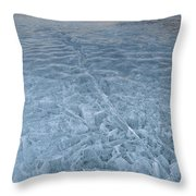 Ice On Abraham Lake Throw Pillow