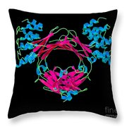 Immunoglobulin E, Antibody Throw Pillow