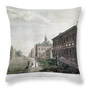 Independence Hall, 1798 Throw Pillow