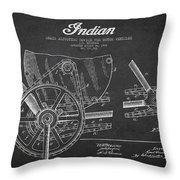 Indian Motorcycle Patent From 1902 Throw Pillow by Aged Pixel