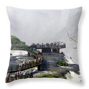 Iquazu Falls - South America Throw Pillow