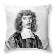 Isaac Barrow (1630-1677) Throw Pillow