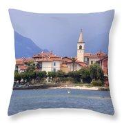 Isola Dei Pescatori Throw Pillow