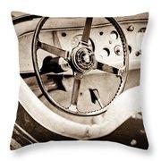 Jaguar Steering Wheel Throw Pillow