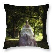 Jane Austen Throw Pillow by Joana Kruse