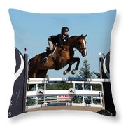 Jumper14 Throw Pillow