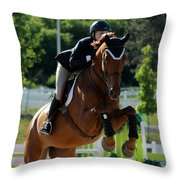 Jumper17 Throw Pillow