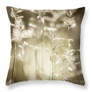 June Grass Flowering Throw Pillow
