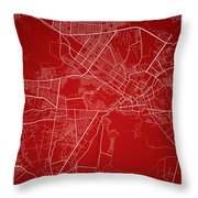 Kabul Street Map - Kabul Afghanistan Road Map Art On Colored Bac Throw Pillow
