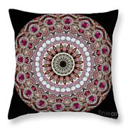 Kaleidoscope Colorful Jeweled Rhinestones Throw Pillow