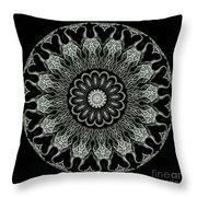 Kaleidoscope Ernst Haeckl Sea Life Series Black And White Set On Throw Pillow